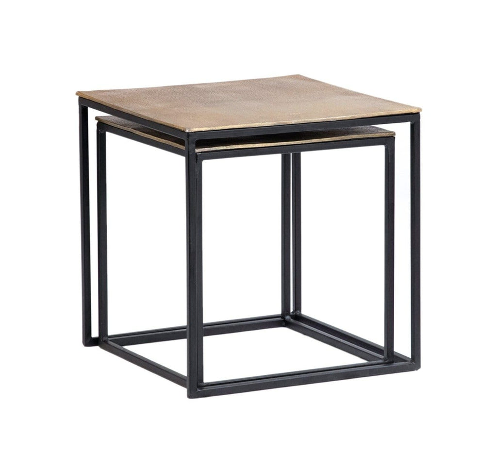 Leila nesting end tables antique brass