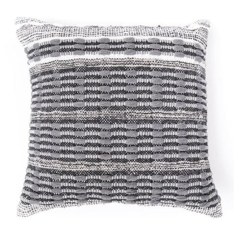 Sonoma Cotton Pillow grey white cotton shop for a cause