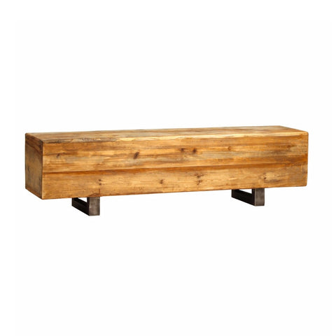 Madden reclaimed elm wood bench