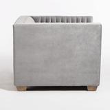 Deca Grey Velvet Chair