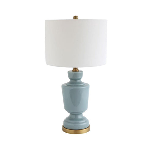 Blue and Gold Vase-shaped Porcelain Adesso Lamp