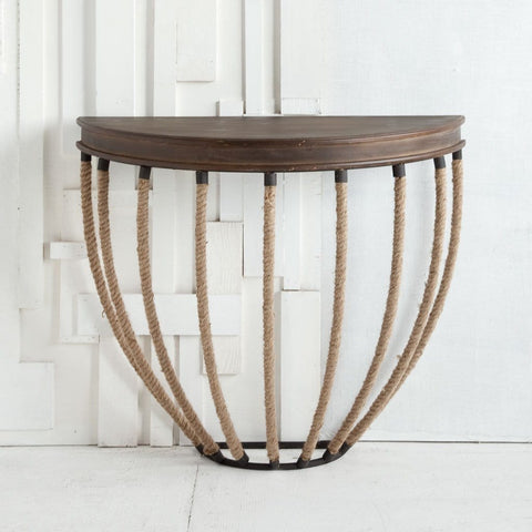 Alegro wall table rope wood