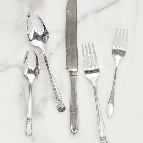 silver plate 5 piece place setting