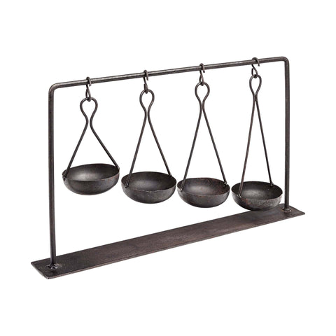 Arya Spice Display black metal trendy decor