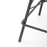 Asher Swivel Bar + Counter Stool distressed brown