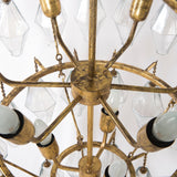Large Avery Chandelier in Gold Leaf Interior Detail