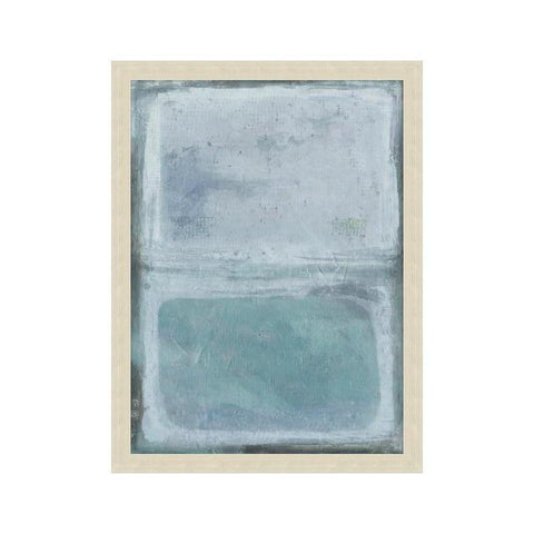 Azure Square Artwork modern metal grey frame