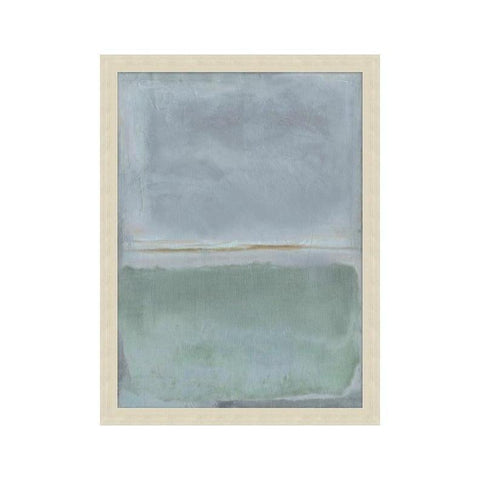 azure blue green contemporary wall art silver frame