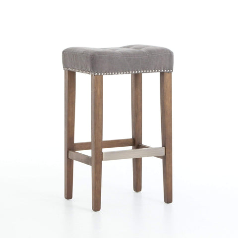 james bar counter stool grey canvas