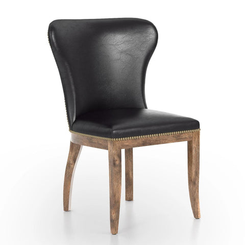 Mia Wing Dining Chair Black