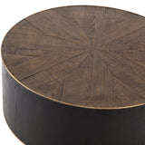 Coley Coffee table Oak wood brass edge