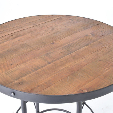 Belmont reclaimed wood round pub table