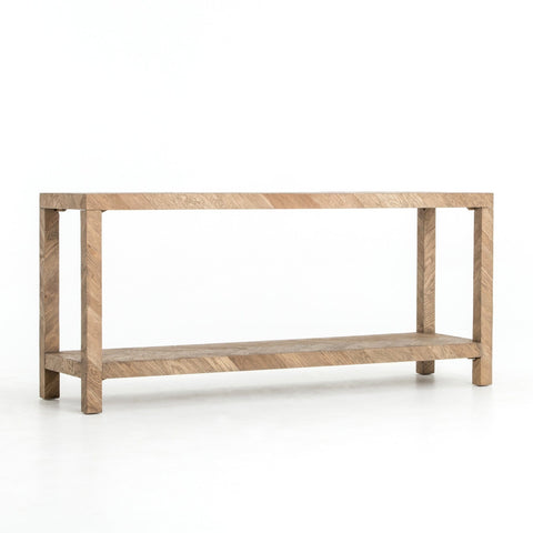 Lincoln herringbone console oak