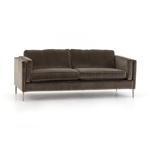 "Elise 84"" sofa velvet birch grey"