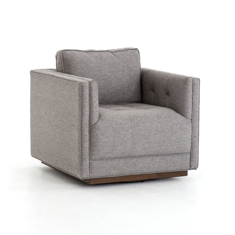 Kinsey swivel chair grey