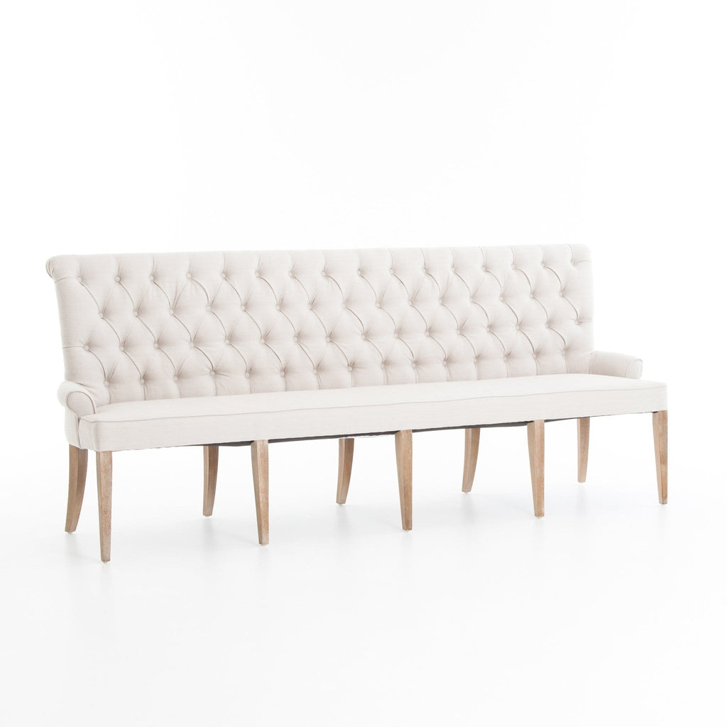 Cassandra Banquette tufted back ivory