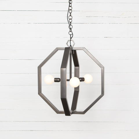 madison chandelier brass steel geometric open