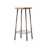 Winston Counter Stool in Antique Brass Angled Sideview