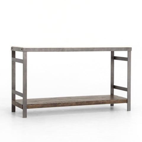 Upland-console-table-marble-wood-reclaimed