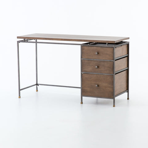 Belgium mango wood grey iron desk
