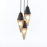 chloe pendant light vintage distressed mercury glass iron