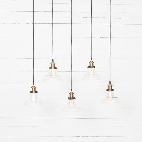 piper pendant lights brass bronze glass vintage