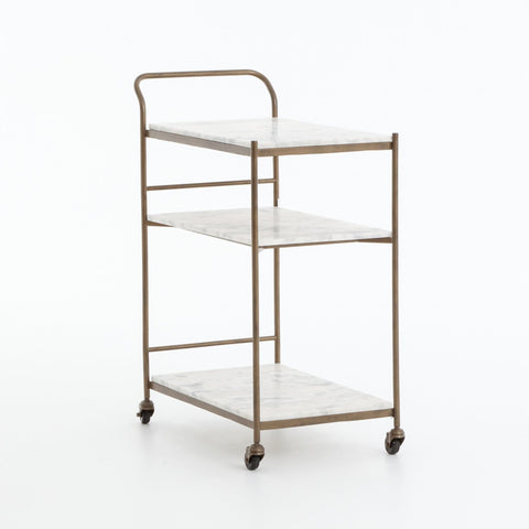 Felicity Bar Cart Marble Brass