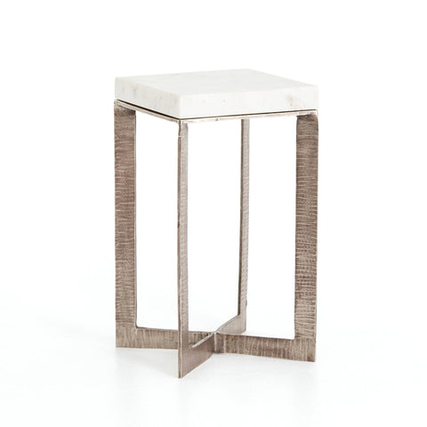 Cami End Table marble aluminum accent
