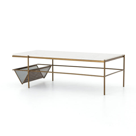 Felix Coffee Table antique brass