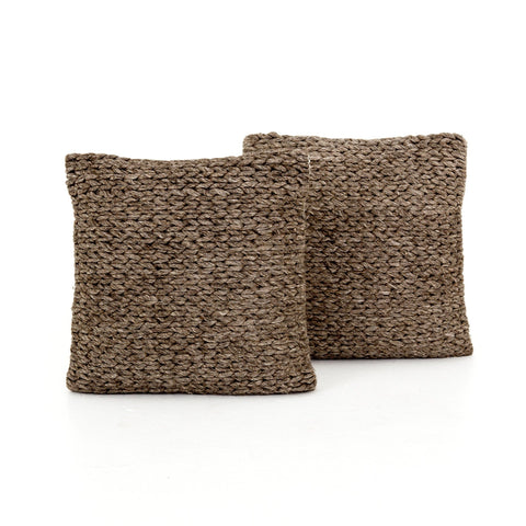 Cocoa Braided Pillow Set