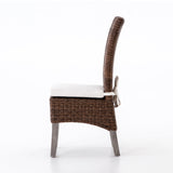 christie rattan teak brown white outdoor chair
