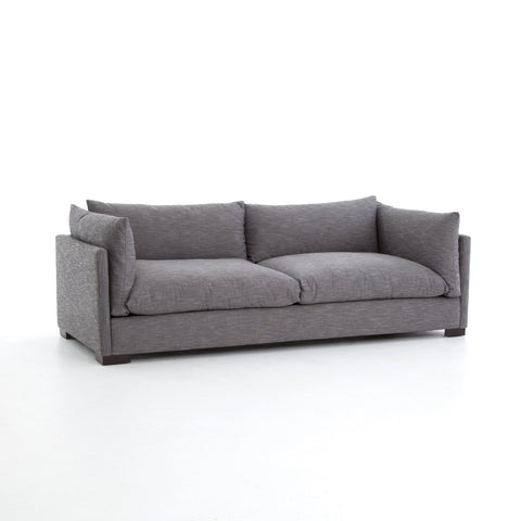 Wilcox Sofa Feathered Grey Angled Sideview
