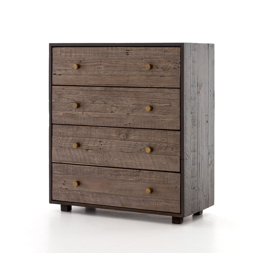 Hudson-4 Drawer-Dresser-wood-brass