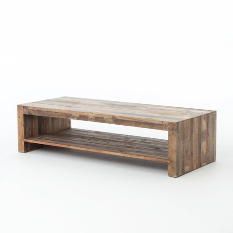 benning coffee table reclaimed pine wood