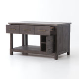 Elworth Extension Kitchen Island concrete top