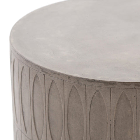 aztec outdoor concrete end table