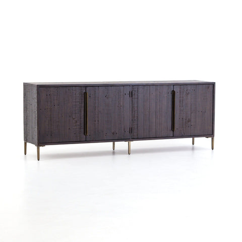 Whitney dark reclaimed wood brass sideboard