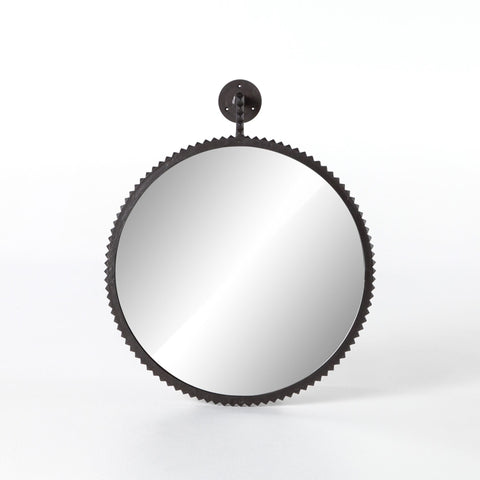 Gear Round Mirror bronze finish mirror interior spiked detail trendy mirror