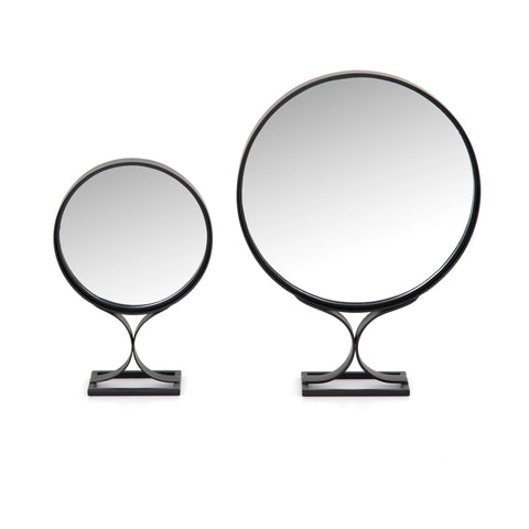 The Baxton Mirror Set of 2 iron black