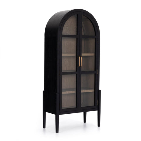 The Beni Cabinet, Black, Oak Wood, Iron, Antique Brass, Main View