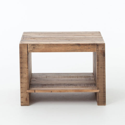 Benning End Table Reclaimed Pine Frontview
