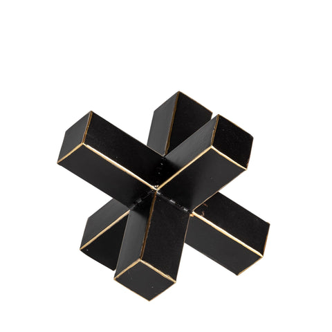 Black Jack Decor metal frame black gold accents