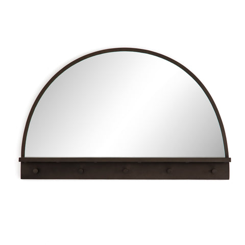 Blair Mirror half moon black iron frame front view