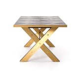 Bradley dining table brass side