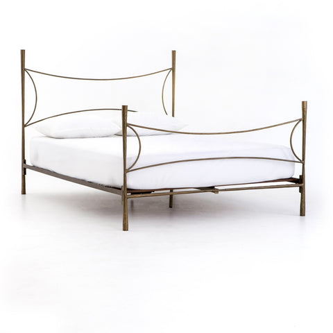 christopher bedframe antique brass