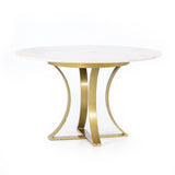 Alex Dining Table marble top brass base