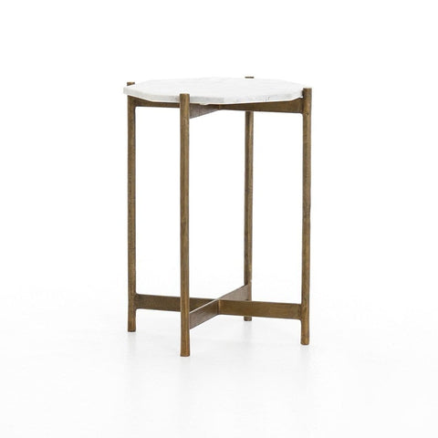 Calito End Table marble brass