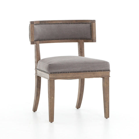 Carolina dark grey canvas parawood dining chair