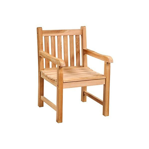Channing Dining Chair natural brown teak wood outdoor dining chair