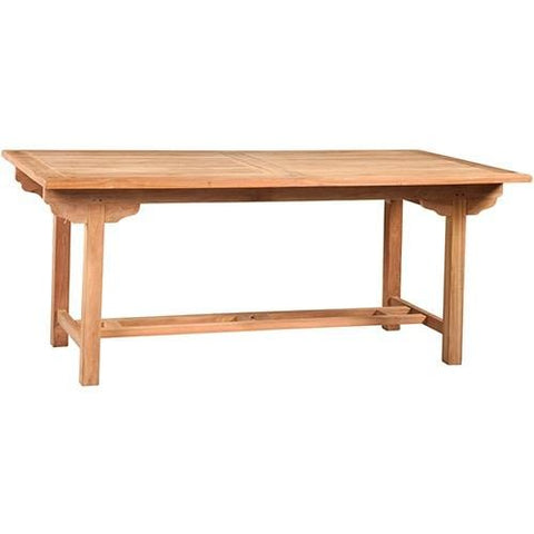 Channing Dining Table natural brown teak wood outdoor dining table